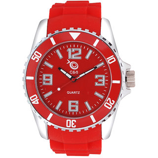 Chappin  Nellson CNP10M Red Coloured With Red PU Strap Quartz Watch For Women