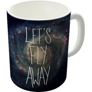 Dreambolic Lets Fly Away Printed Ceramic Coffee Mug