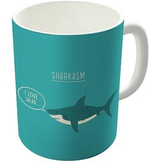 Dreambolic  Sharkasm Printed Ceramic Coffee Mug