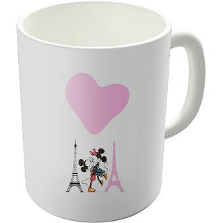 Dreambolic  Mickey Mouse And Minnie Printed Ceramic Coffee Mug