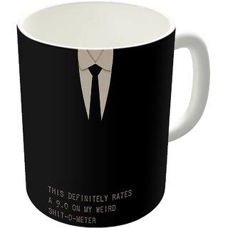 Dreambolic  Men In Black Printed Ceramic Coffee Mug