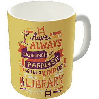Dreambolic  Library Printed Ceramic Coffee Mug
