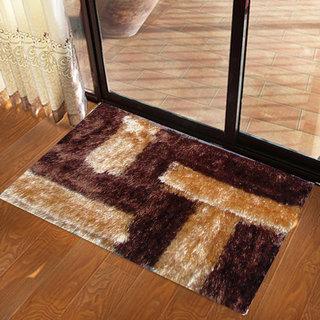 Presto Brown Colour Abstract 3D Doormat