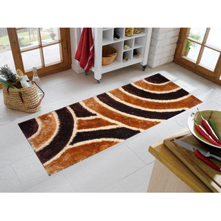 Presto brown n gold colour abstract runner(22 X 55)