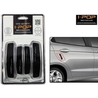 i-pop Simple Black Car Door Scratch Guard Protector ipop - For Tata Manza