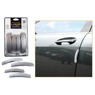 i-pop Simple Silver Car Door Scratch Guard Protector ipop - For Mahindra E2o (reva)