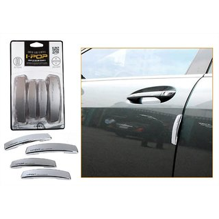 i-pop Simple Silver Car Door Scratch Guard Protector ipop - For Mahindra Xylo