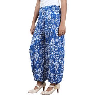 Wazeer Harem Pants Viscose Lycra Blue