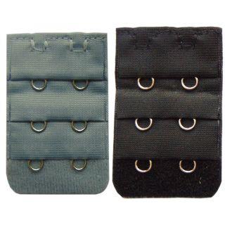 Nimra Fashion Black, Grey Combo 2 Hook Bra Strap Extender (Pack of 2)