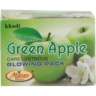Khadi Green Apple Care Lustrous Glowing Pack 90 gms
