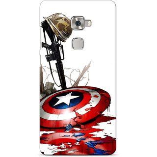 G.store Printed Back Covers for Huawei Mate S Red