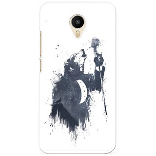 G.store Printed Back Covers for Meizu m1 metal White