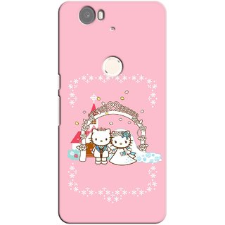 G.store Printed Back Covers for Huawei Nexus 6P Pink