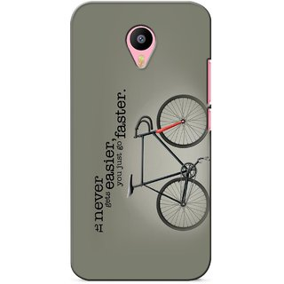 G.store Printed Back Covers for Meizu M2 Note Grey