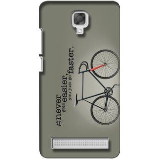 G.store Printed Back Covers for Micromax Bolt Q338 Grey
