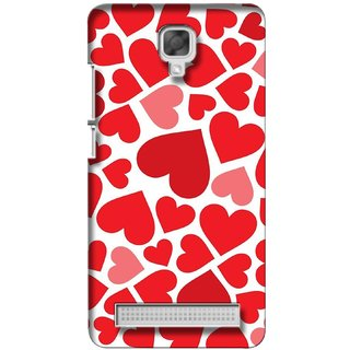 G.store Printed Back Covers for Micromax Bolt Q338 Red