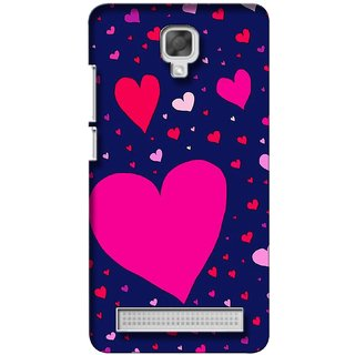 G.store Printed Back Covers for Micromax Bolt Q338 Blue