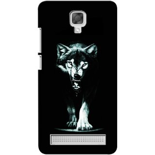 G.store Printed Back Covers for Micromax Bolt Q338 Black