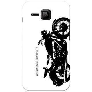 G.store Printed Back Covers for Micromax Bolt S301 White