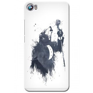 G.store Printed Back Covers for Micromax Canvas Fire 4 A107 White