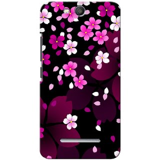 G.store Printed Back Covers for Micromax Canvas Juice 3 Q392 Pink