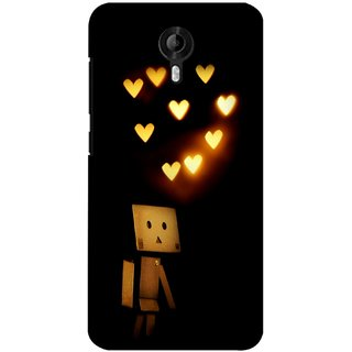 G.store Printed Back Covers for Micromax Canvas Nitro 3 E455  Black