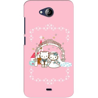 G.store Printed Back Covers for Micromax Canvas Play Q355 Pink