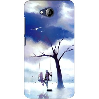G.store Printed Back Covers for Micromax Canvas Play Q355 Blue