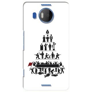 G.store Printed Back Covers for Microsoft Lumia 950 XL White