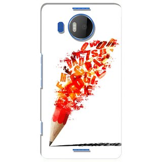 G.store Printed Back Covers for Microsoft Lumia 950 XL Red