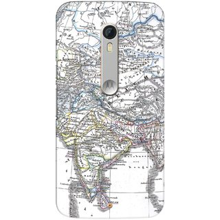 G.store Printed Back Covers for Motorola Moto X Play White