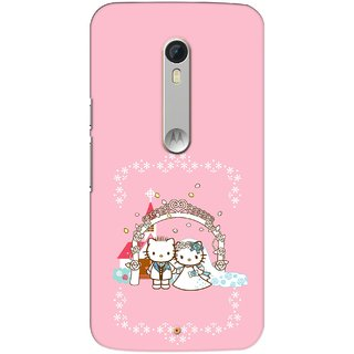 G.store Printed Back Covers for Motorola Moto X Play Pink