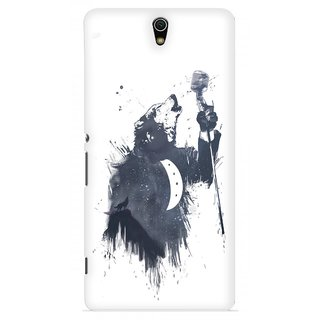 G.store Printed Back Covers for Sony Xperia C5 Ultra White