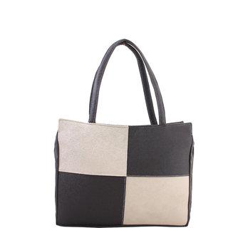 Raas Bazaar Woman Classy Black Cream Handbag