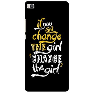 G.store Printed Back Covers for Huawei Ascend P8 Black
