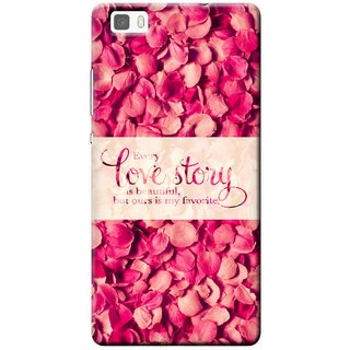 G.store Printed Back Covers for Huawei P8 lite Red