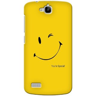 G.store Printed Back Covers for Huawei Honor Holly Yellow