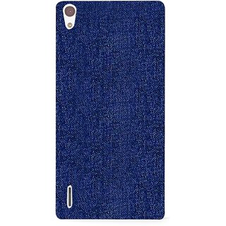 G.store Printed Back Covers for Huawei Ascend P7 blue