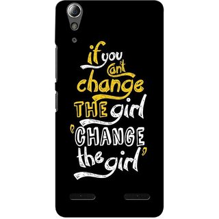 G.store Printed Back Covers for Lenovo A6000 Black