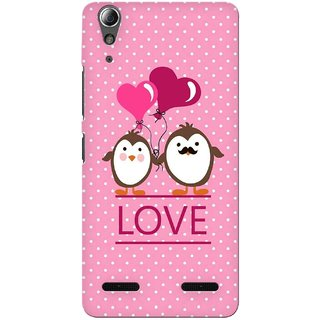 G.store Printed Back Covers for Lenovo A6000 Plus Pink