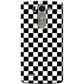 G.store Printed Back Covers for LG G3 Beat Black