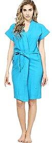 Firozi 100 Turkish Cotton Bathrobe Spa Gown