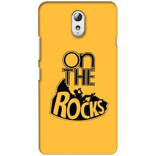 G.store Printed Back Covers for Lenovo Vibe P1m Yellow