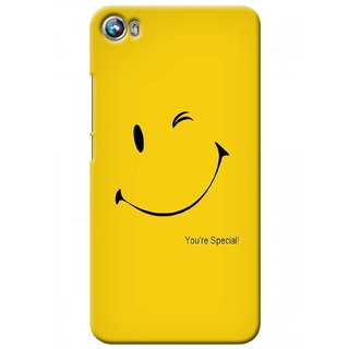 G.store Printed Back Covers for Micromax Canvas Fire 4 A107 Yellow