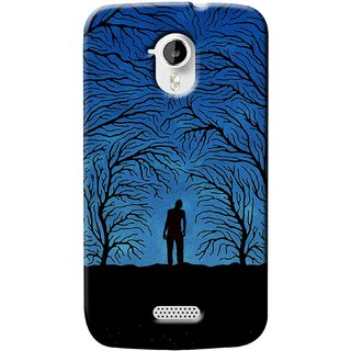 G.store Printed Back Covers for Micromax Canvas HD A116 Blue