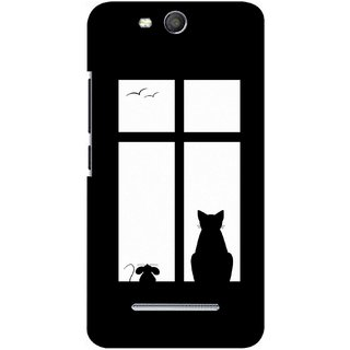 G.store Printed Back Covers for Micromax Canvas Juice 3 Q392 Black