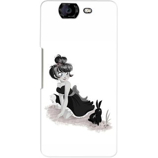 G.store Printed Back Covers for Micromax Canvas Knight A350 White
