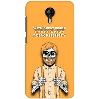 G.store Printed Back Covers for Micromax Canvas Nitro 3 E455 Yellow