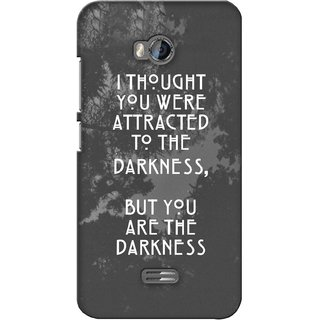 G.store Printed Back Covers for Micromax Bolt Q336 Grey
