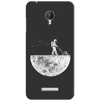 G.store Printed Back Covers for Micromax Canvas Spark Q380 Grey